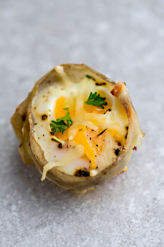 Turnip Baked Egg Cups - 9 Ways are the perfect low carb and protein packed breakfast. Best of all, they are super simple to customize and come together in less than 30 minutes!