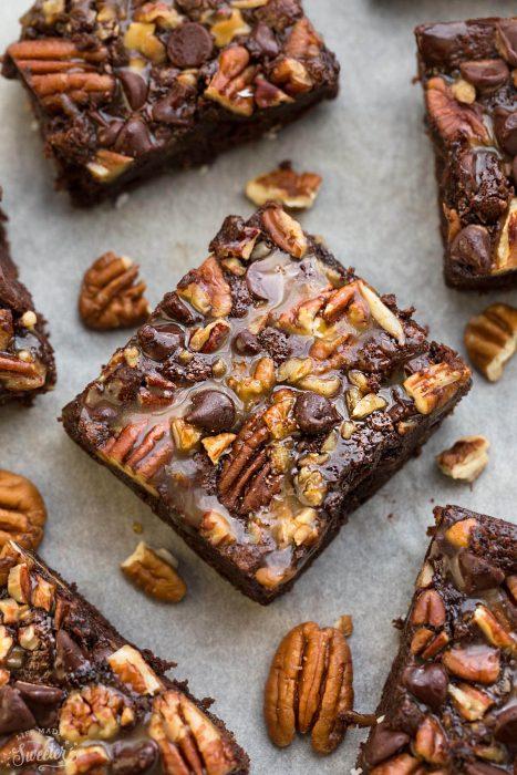Gluten Free Turtle Brownies {Paleo}