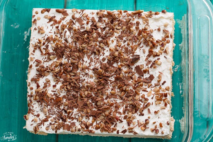 Turtle Ice Box Cake is the perfect easy no-bake holiday dessert