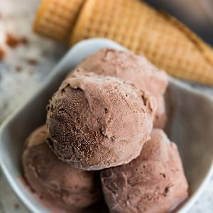 Two-Ingredient Chocolate Banana Ice Cream makes the perfect healthy frozen treat! Best of all, it's vegan and uses just two simple ingredients!
