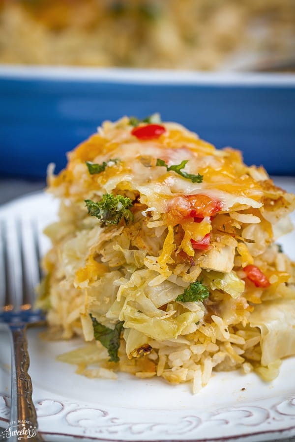Unstuffed Cabbage Casserole makes an easy & comforting weeknight meal
