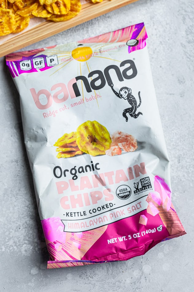 A bag of Plantain Chips