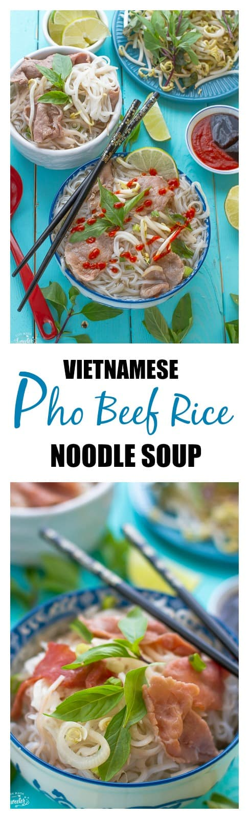 Vietnamese pho beef Rice noodle soup from the slow cooker