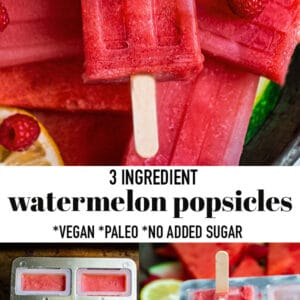 Pinterest collage of watermleon popsicles