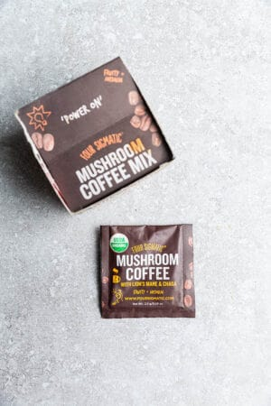 Top view of FourSigmatic Instant Coffee for Dalgona Whipped Coffee