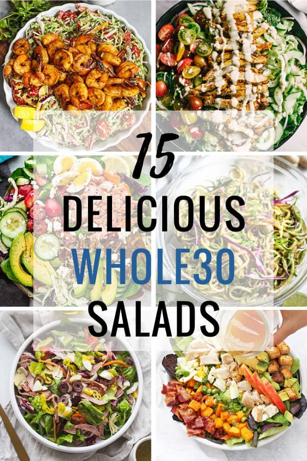 Loaded salads are the best Whole30-approved meals! A bed of lettuce piled with healthy toppings, these salads will give you all the lunch inspiration.