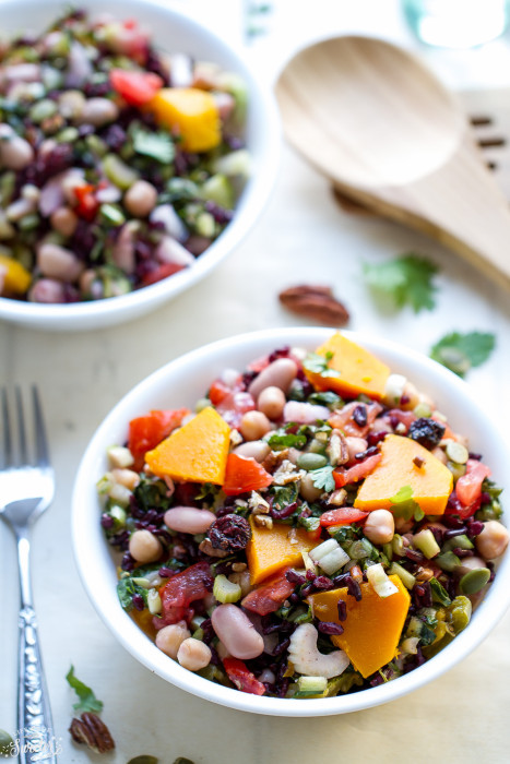 Wild Rice & Mixed Bean Salad is perfect for lunch or a light dinner.