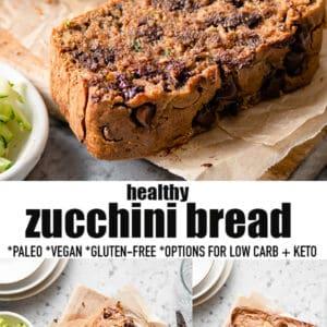 Pinterest collage for Zucchini Bread