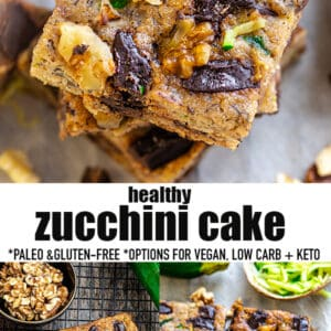 Pinterest collage for zucchini cake