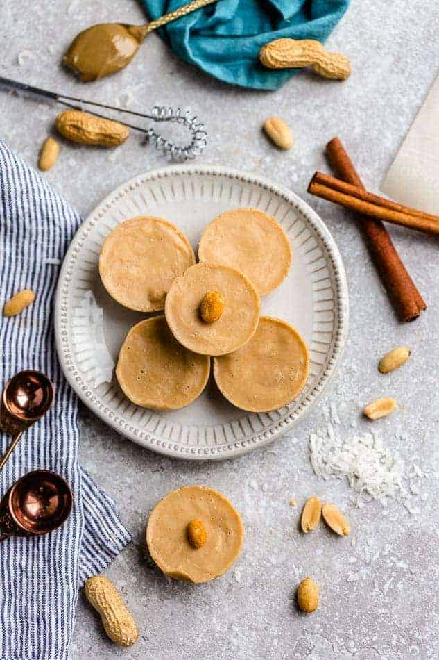 peanut butter cups are filling and a classic easy eggless dessert.
