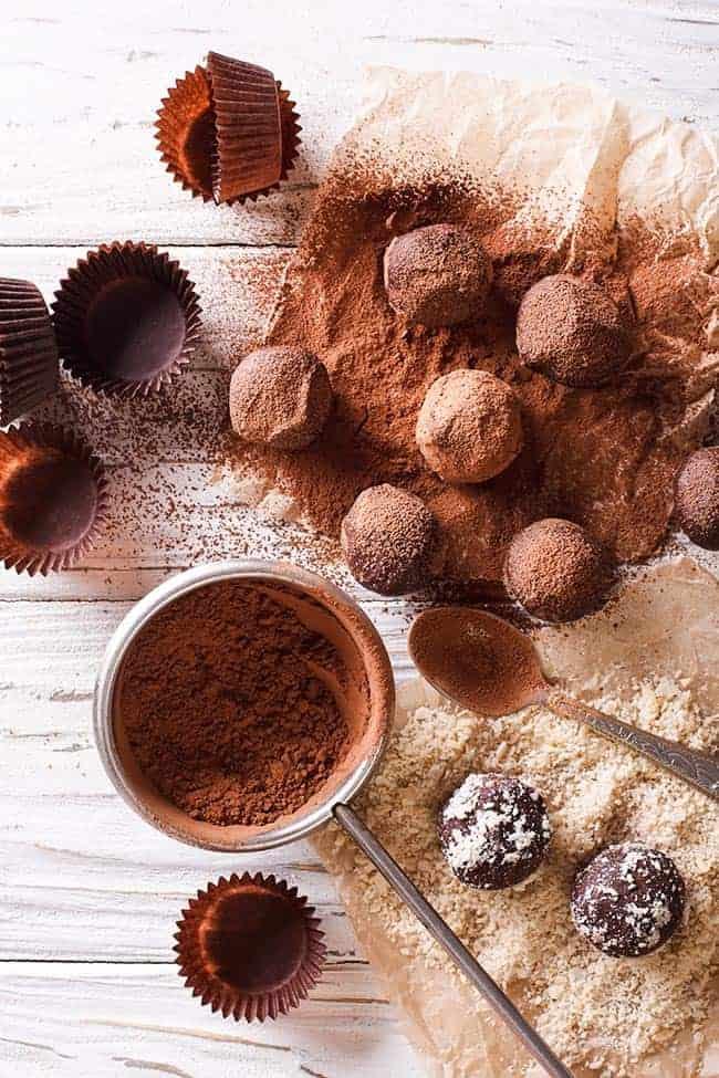 Chocolate Truffles as easy eggless desserts.