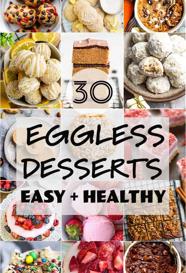 Featured image for easy eggless desserts.