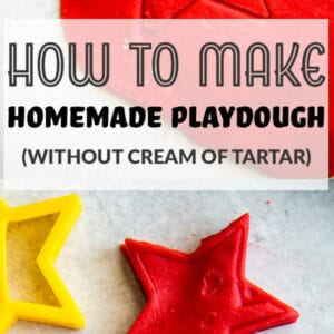 pinterest image of how to make homemade dough