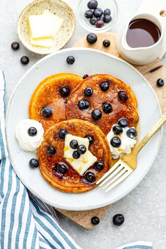 Blueberry Pancakes as best foods to freeze