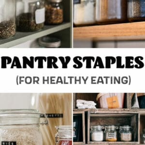 pinterest image for pantry staples