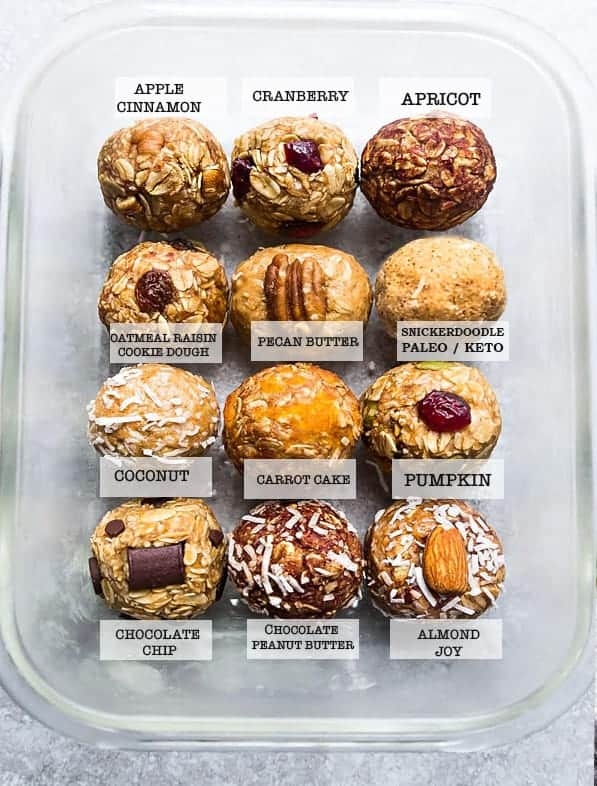 12 protein ball recipes for the pantry